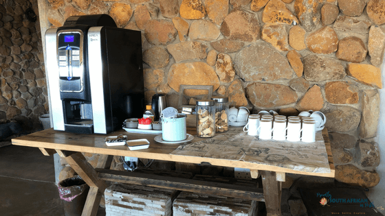 Coffee station at Ndaka Safari Lodge in Nambiti Private Game Reserve (1)
