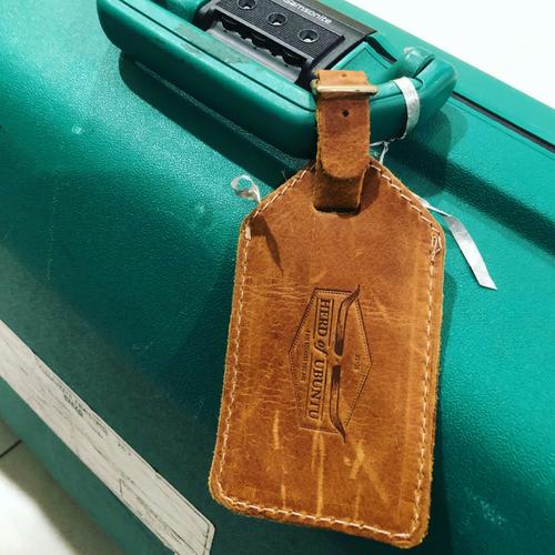 Leather Luggage Tag - Herd Of Ubuntu