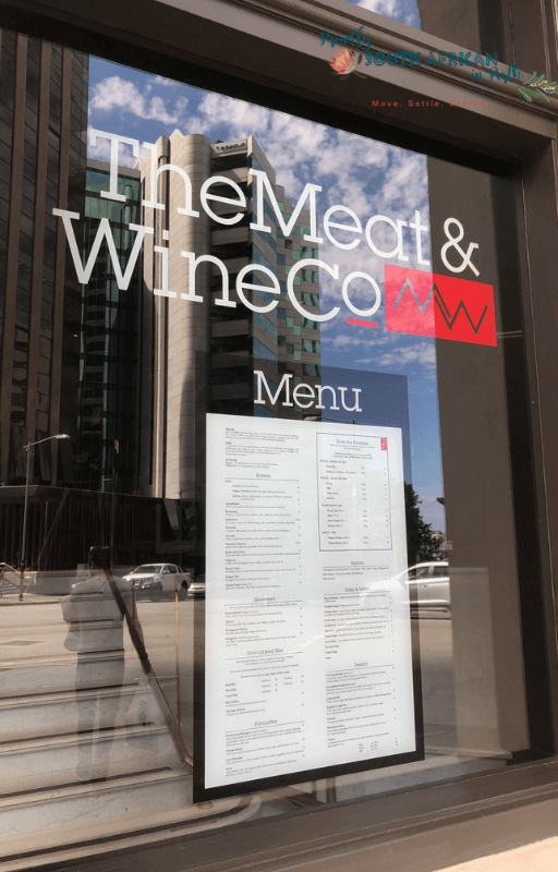 The Entrance Of The Meat & Wine Co Perth - Proudly South African In Perth