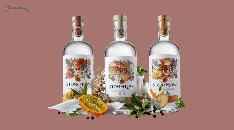 Range of Stoneflow Wild African Botanicals Gin - Proudly South African In Perth