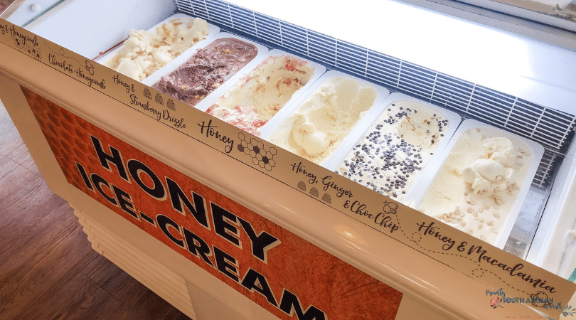 Honey ice cream at The House of Honey